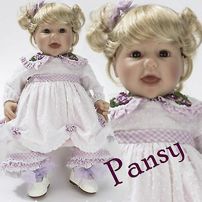 "Lee Middleton Pansy, 20"" Reva Schick Artist Studio Vinyl and Cloth Weighted Doll"