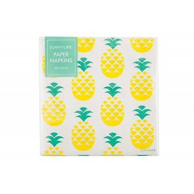 Sunnylife Paper Napkins Set of 20 - Pineapple New Sealed