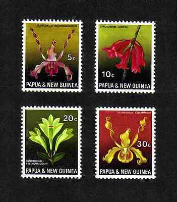 Papua New Guinea 1969 Orchids complete set of 4 values (SG 159-162) MNH