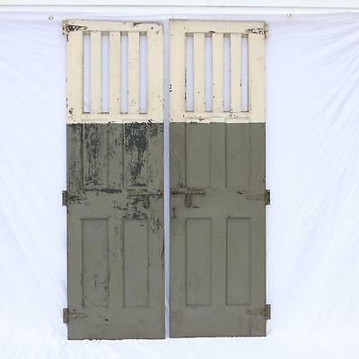 A Pair of 19th Century Barn Doors Solid Wood Stables Stall Morristown NJ ANTIQUE