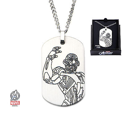Pendentif Age Of Ultron Laser Etched Ultron Marvel