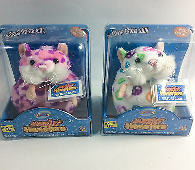 Lot of 2 Webkinz Mazin' Hamsters Hope and Pixie NIB  Code