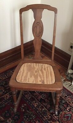Antique Nursing Rocker Seat Needs Reupholstery No Arms