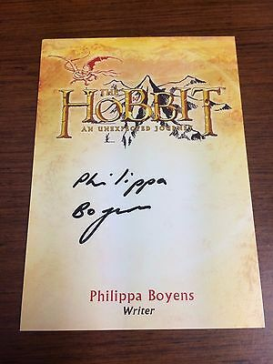 Cryptozoic The Hobbit An Unexpected Journey Auto Autograph CA-2 PHILIPPA BOYENS