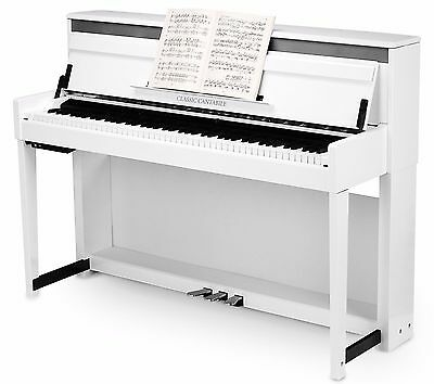 44348 PIANO VERTICAL DIGITAL ELECTRONICO BLANCO MATE Classic Cantabile UP-1 VM