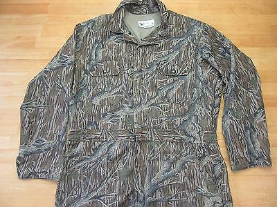 Vintage GANDER MOUNTAIN Made in USA BARKLAND Camo HUNTING COVERALLS L-R