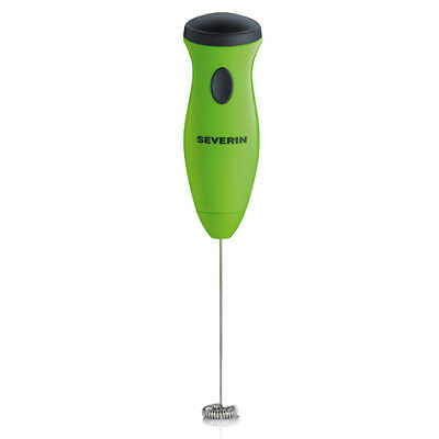 Severin SM3592 Milk Frother Green Battery Pulse Stainless Steel Whisk UK