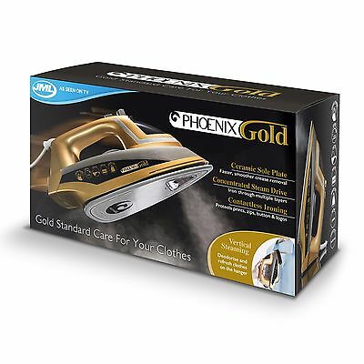 JML V16120 Phoenix Ceramic Steam Iron 2200W - Gold - *BRAND NEW IN BOX* UK STOCK