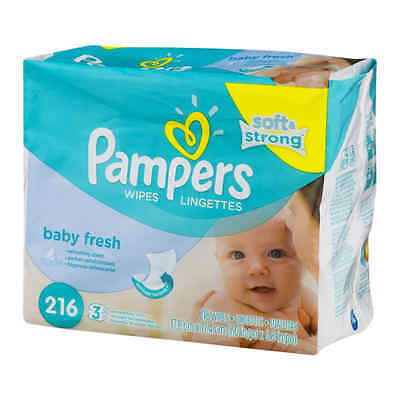 Pampers Baby Fresh Baby Wipes, 216 sheets