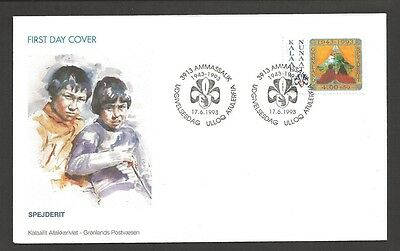 1993 Greenland Scouts 50 years FDC
