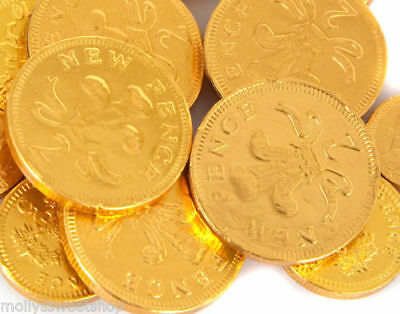 LARGE GOLD FOIL COINS CHOCOLATE MONEY 1kg (135 coins) PERFECT FOR PARTY BAGS