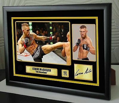 "Conor McGregor UFC canvas tribute signed Limited Edition ""Great Gift / Souvenir"""