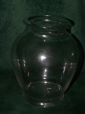 Libbey crystal clear signed glass bulb vase
