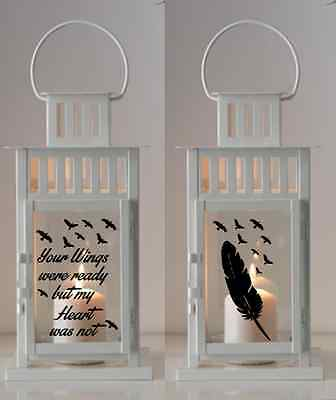 Your Wings Were Ready But My Heart Was Not - Vinyl Sticker For Lantern Memorial