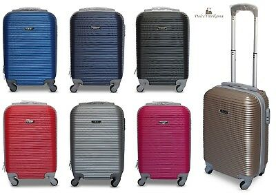 Trolley Valigia Bagaglio A Mano Cabina Ryanair Easy Jet 4 Ruote Low Cost