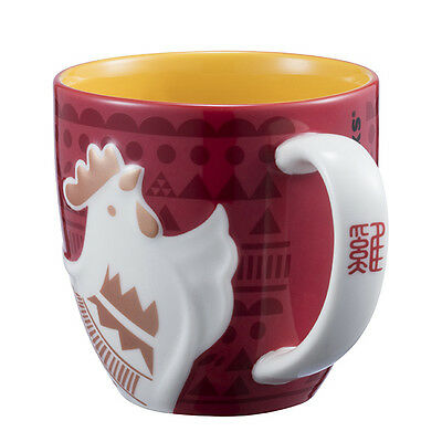 STARBUCKS CHINESE NEW YEAR OF THE ROOSTER CHICKEN MUG 12oz LIMITED EDITION NEW