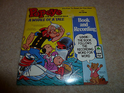 """Popeye -A Whale Of A Time Vinyl 7""""  Book And Recording Sealed Top Copy"""