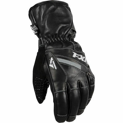 FXR Racing Leather Short Cuff Mens Snowboard Skiing Snowmobile Gloves