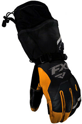 FXR Racing Tactic Leather Gauntlet Mens Snowboard Skiing Snowmobile Gloves