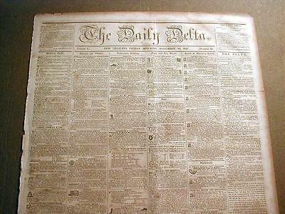 1850 New Orleans LOUISIANA newspaper 160 years old !!