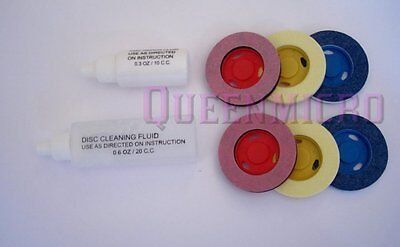 Refill Fluids Pads Kit for CD DVD BluRay XBox PS3, 4 Repair Disc Scratch Cleaner