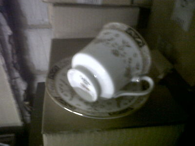 Queen Bone China Olde England Tea Cup and Saucer x 2.