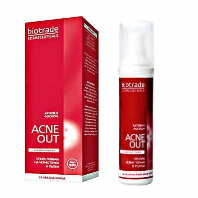 BIOTRADE ACNE OUT ACTIVE Lotion 60 ml Blemishes Pimples Face Body Blackheads