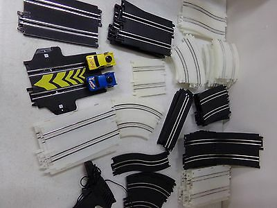 46 Piece Lot of Slot Car Pieces Tracks, Trucks, Artin Controller
