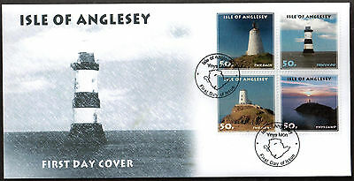 GB Local Cinderella Anglesey (Wales) Lighthouses First Day Cover 1st Series