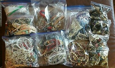 Vintage to Mod Jewelry Wearable Mixed Mystery Lot Resale Swap Craft  20 lbs