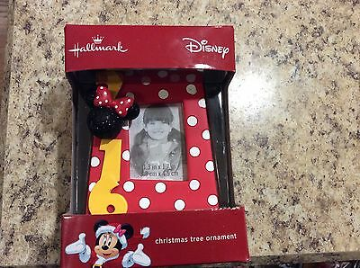 2016 Hallmark Christmas Tree Ornament Disney Dated Minnie Mouse Picture Frame