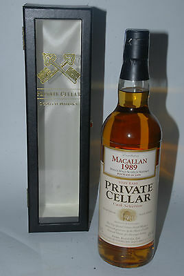 WHISKY MACALLAN 1989 20 YEARS OLD PRIVATE CELLAR 70cl. IN BOX RARE