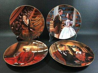 4 Plate Set Gone with the Wind Critics Choice W.S.George  1D