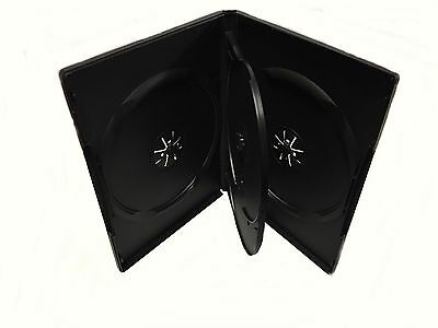 "1 Brand New Black Multi Four (4) Discs DVD/CD Case, Standard 1/2"" 14mm"