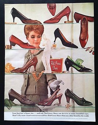 1964 Red Cross women's shoes 10 styles vintage print ad