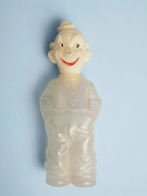 Vintage 1960s Plastic Rosen Plastic Clown Candy Container (W. Germany)