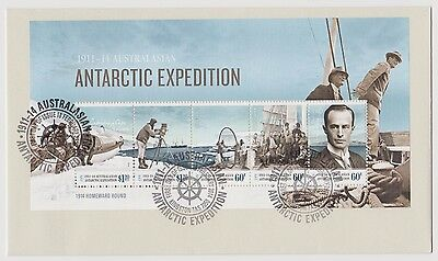 2014 Antarctic Expedition set & mini sheet on FDC's ST102