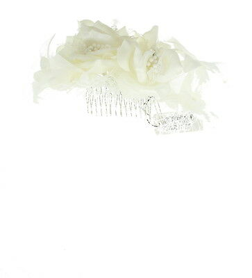 Cream Fascinator on Headband/ Clip-in for Weddings, Races and Occasions-5573
