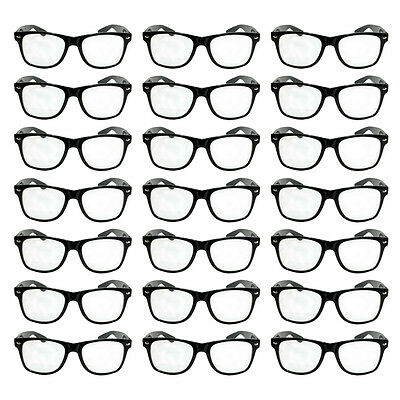 Wholesale Lot of 120 Black Classic Glasses Retro Horned Rim Frame Party Favors