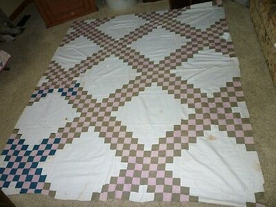 Early 1900's Double Irish Chain QUILT TOP