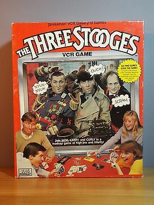 1986 The Three Stooges VCR Game by Pressman