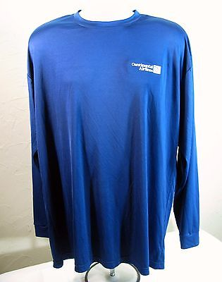 Out of Business CONTINENTAL AIRLINES Blue Long Sleeve T Shirt Size L / XL