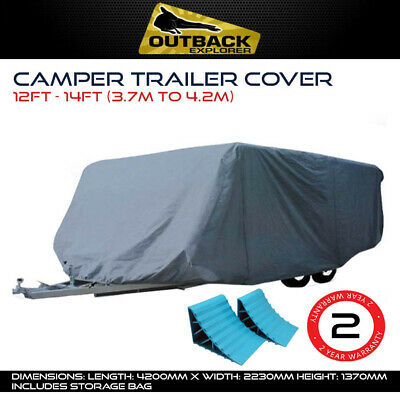 Outback Explorer 12-14 ft 3.7-4.2m Camper Trailer Cover Jayco Hawk Dove + Chocks