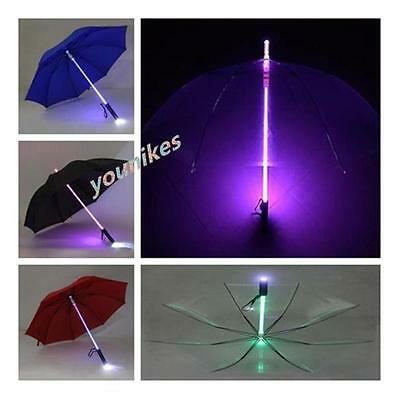 Hot LED Light Up Blade Runner Star Wars Transparent Umbrella With Flashlight