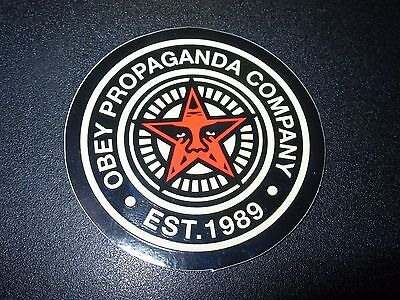 "SHEPARD FAIREY Obey Giant Sticker 2.5"" CIRCLE EST 1989 from poster print"