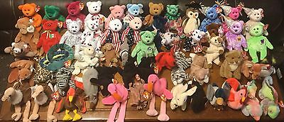 Ty Beanie Babies Assorted Lot of 57 Mixed