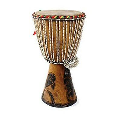 """Authentic Handmade African D'Jembe Drum: Small 16-18"""""""