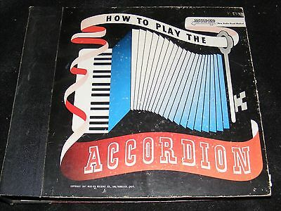 Rare 1947 HOW TO PLAY THE ACCORDION 12 Record Album Set MUS-ED Records Complete!