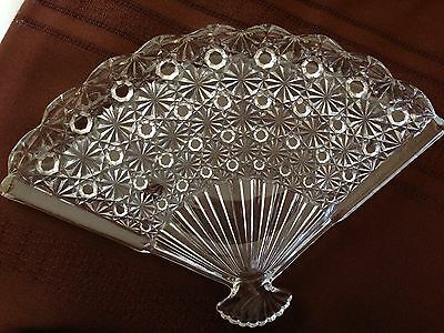 Antique Button And Bows Daisy Button Fan Shape Dresser Tray Plate Dish