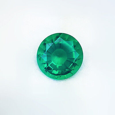 Beautiful 11.25 Ct Round Colombian Green Emerald Lab Quartz Doublet Gem